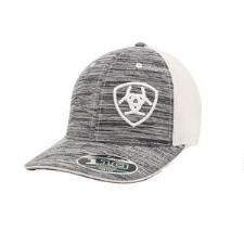 Ariat Heather Grey with White Logo Baseball Cap - TB
