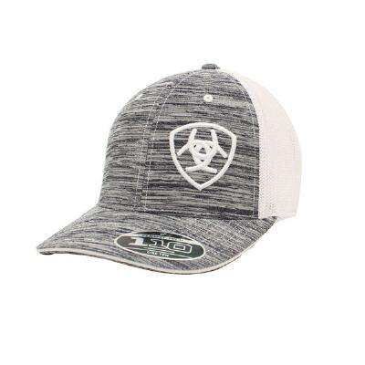 Ariat Heather Grey with White Logo Baseball Cap