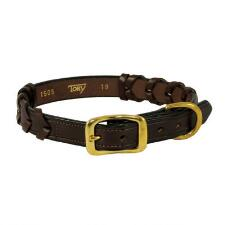 Laced Leather Dog Collar