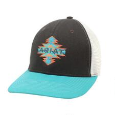 Ariat Grey and Turquoise with Aztec Logo Baseball Cap - TB