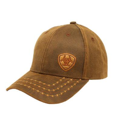 Ariat Barbwire Stitch Oilskin Baseball Cap