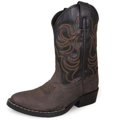 Monterey Brown Crazy Horse Kids Western Boot