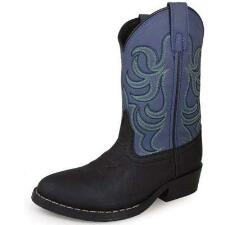 Monterey Black and Blue Kids Western Boot - TB