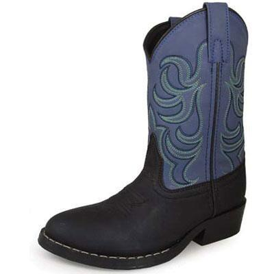 Monterey Black and Blue Kids Western Boot
