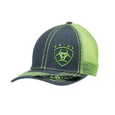 Ariat Grey with Lime Green Logo Baseball Cap - TB