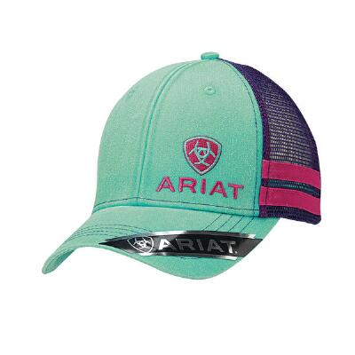 Ariat Turquoise with Pink and Purple Accent Baseball Cap