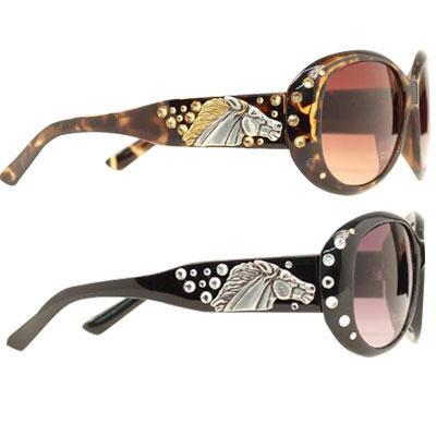 Sunglasses Ladies Fashion Horse Head Concho