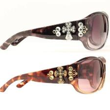 Sunglasses Ladies Fashion Cross With Crystals