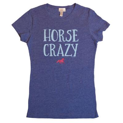 Stirrups Horse Crazy Royal Heather Ladies Tee