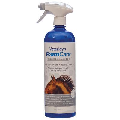 Vetericyn Equine Medicated FoamCare Shampoo 32 oz