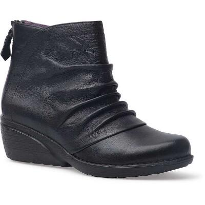 Arisa Black Nappa Ladies Ankle Boot