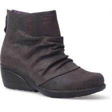 Arisa Grey Shimmer Suede Ladies Ankle Boot