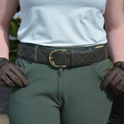 The Tailored Sportsman Quilted C Leather Belt