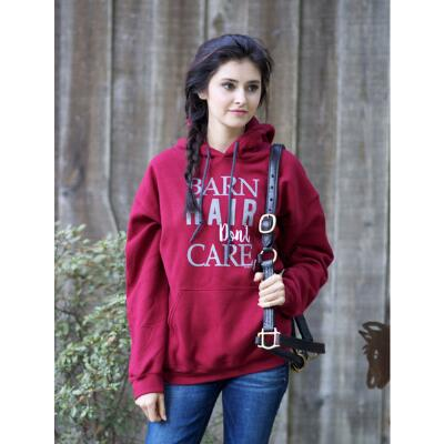Stirrups Barn Hair Ladies Hoodie
