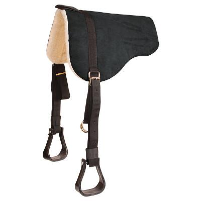 Mustang Faux Suede Bareback Pad Fleece with Stirrups