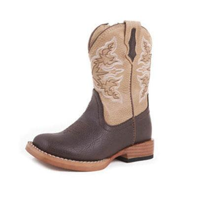 Roper® Square Toe Youth Western Boot Brown