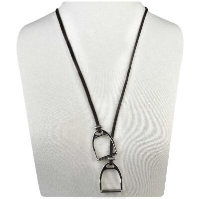 Lilo Collections Sally Stirrup Leather Loop Necklace