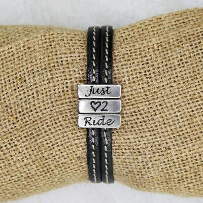 Lilo Collections Just Love 2 Ride Leather Bracelet