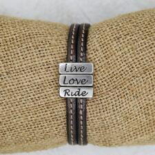 Lilo Collections Live Love Ride Leather Bracelet - TB