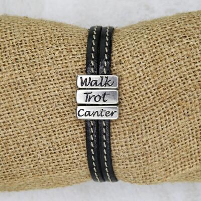 Lilo Collections Walk Trot Canter Leather Bracelet