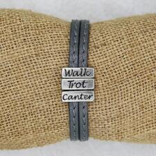 Lilo Collections Walk Trot Canter Leather Bracelet - TB