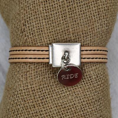 Lilo RIDE Candao Leather Charm Bracelet