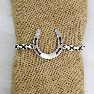 Lilo Collections Horse Shoe Toggle Bracelet