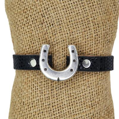 Lilo Collections Horseshoe Croc Print Bracelet