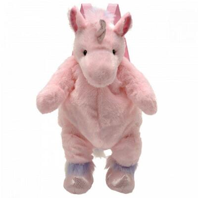 Plush Pink Unicorn Backpack