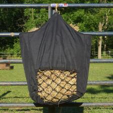 Slow Feed Hay Bag Black