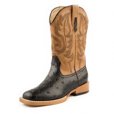 Roper Ostrich Square Toe Mens Western Boot