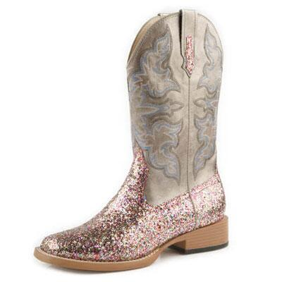 Roper Sparkle Square Toe Ladies Western Boot