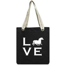 Pony L.O.V.E Cotton Canvas Tote Bag - TB