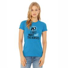 Stirrups All the Horses Fitted Ladies Tee - TB