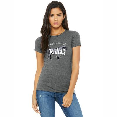 Stirrups Go Riding Fitted Ladies Tee