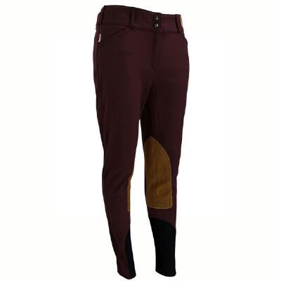 Tailored Sportsman Bordeaux Knee Patch Ladies Breech