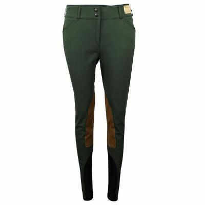 Tailored Sportsman Loden Green Knee Patch Ladies Breech