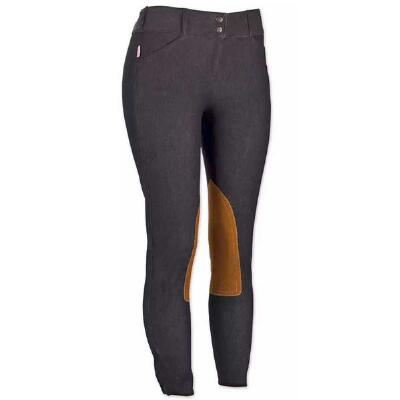 Tailored Sportsman Micro Denim Knee Patch Ladies Breech