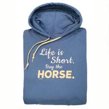 Stirrups Buy the Horse Ladies Hoodie - TB