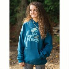 Stirrups Just Want All The Horses Ladies Hoodie - TB