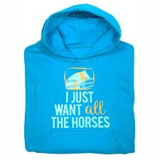 Stirrups Just Want All The Horses Girls Hoodie - TB