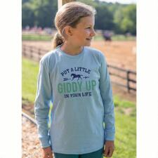 Stirrups Giddy Up Long Sleeve Girls Tee - TB