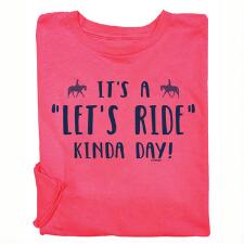 Stirrups Lets Ride Kinda Day Long Sleeve Girls Tee - TB