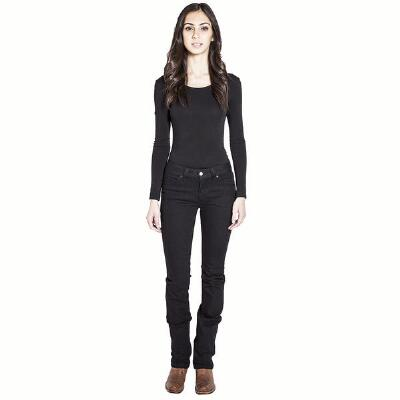 Kimes Ladies Betty Black Modest Boot Cut Jeans