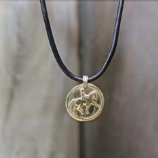 Jeweled Pony Dressage Horse Bronze Necklace - TB