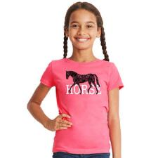 Stirrups Short Sleeve Girls Horse Tee - TB