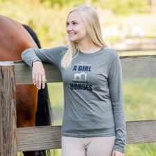 Stirrups Never Underestimate Long Sleeve Ladies Tee - TB