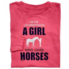 Stirrups Never Underestimate Long Sleeve Girls Tee - TB