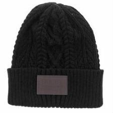 Hooey Knit Beanie with Leather Patch - TB