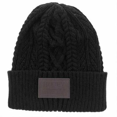 Hooey Knit Beanie with Leather Patch